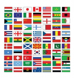 multinational flags vector image