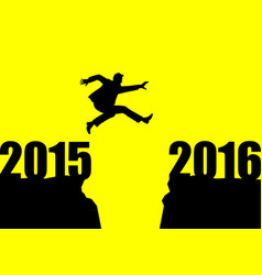 new year jump vector image