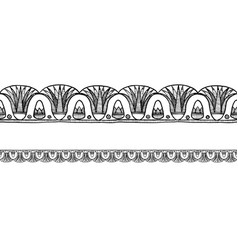 old egyptian border ornament vector image