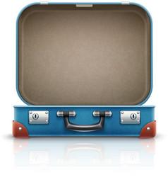 Open old retro vintage suitcase vector image vector image
