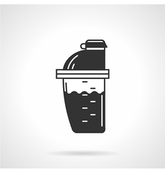 Protein shaker black icon vector