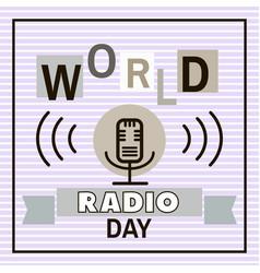 Radio day vector