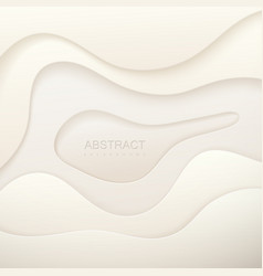 realistic paper cut background vector image