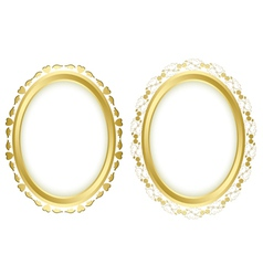 set - golden beautiful frames vector image