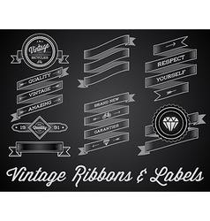 Set of Vintage Retro Style Premium Design Labels vector image