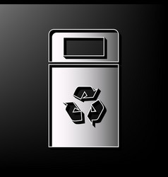 trashcan sign gray 3d vector image