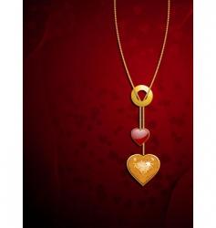 Valentine's heart pendants vector image
