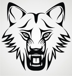 Wild wolf tribal vector