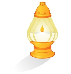 Ritual candle vector image