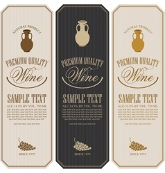 wine label with jug clay vector image