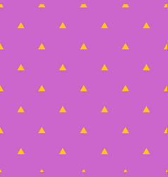 Tile pattern with yellow triangles on violet vector