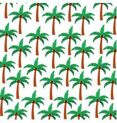 tree palm summer pattern vector image