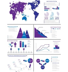Infographic demographics 8 purple vector