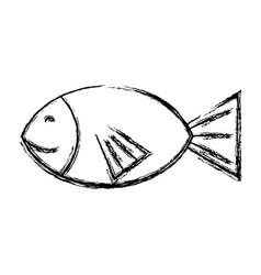 Figure fresh fish animal to preparation meal vector