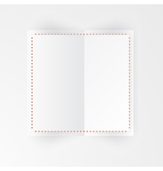 Paper template banner white vector