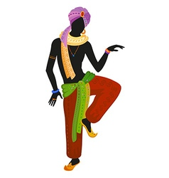 Ethnic dance of indian man vector