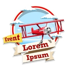 Airplane emblem logo event vector