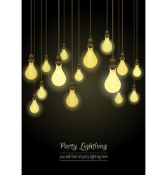 Hanging light bulbs vector