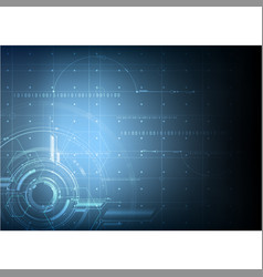 Abstract technological future blueprint vector