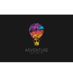 Balloon logo design Air balloon logo Adventure vector image vector image