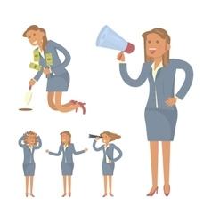 Businesswoman character design vector