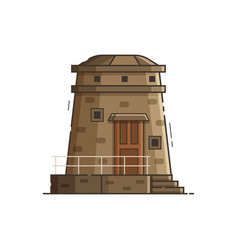 Coast observation tower vector