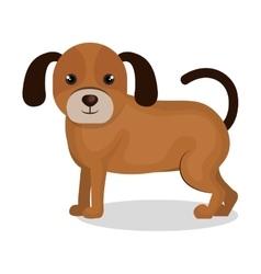 Cute dog mascot icon vector