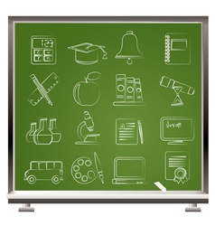 Education and school objects icons vector image vector image
