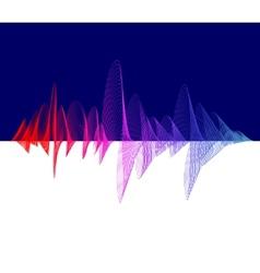 equalizer colorful Dark background vector image vector image