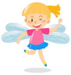 girl wearing wings custume vector image