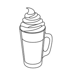 isolated milk shake vector image vector image
