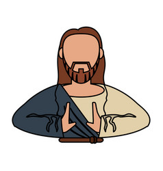 jesus christ catholic religious vector image
