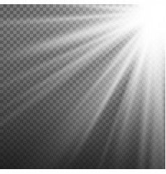 light effect rays burst light isolated on vector image