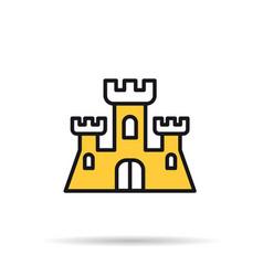 line icon - sand castle vector image vector image