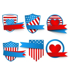 Made in the usa labels vector