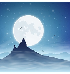 Mountain and Moon vector image vector image