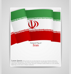 National flag brochure of iran vector