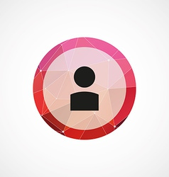 profile circle pink triangle background icon vector image vector image