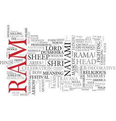 Ram word cloud concept vector