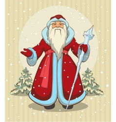 Russian Grandfather Frost Santa Claus vector image vector image