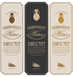 Wine label with jug clay vector