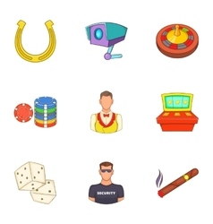 Win icons set cartoon style vector