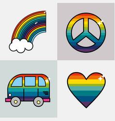 Set symbols to representative the hippies vector