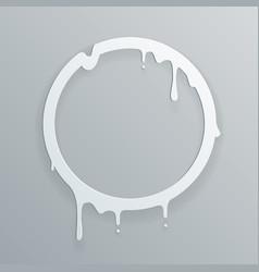 melting paper frame 3d flowing art flux circle vector image