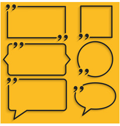 Abstract frame for quotes on yellow background vector
