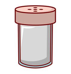 salt shaker icon cartoon style vector image