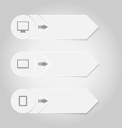 Infographic design template paper tags with vector image
