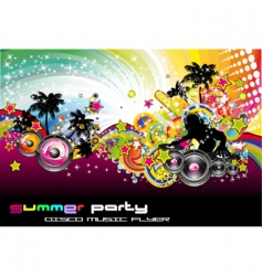 Dance party flyer vector