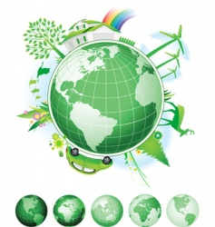 Global conservation concept vector
