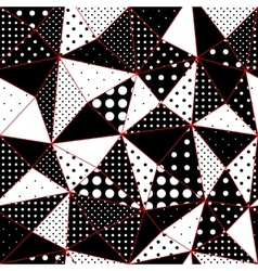 Geometric triangles pattern from polka dots vector